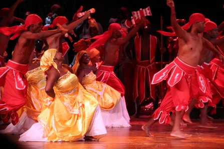 Afro-Cuban dancers perform in Havana, Cuba