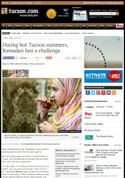 During hot Tucson summers, Ramadan fast a challenge (July 10, 2014, Local news)