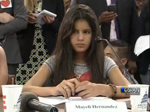 Mayeli Hernandez, 12, fled Honduras in July 2013.